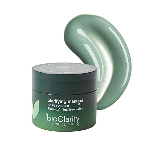 bioClarity Clarifying Face Mask | 100% Clean, Vegan Ingredients | Purify Pores, Smooth & Soothe Skin | Contains Floralux, Tea Tree, Aloe | 1.7 oz