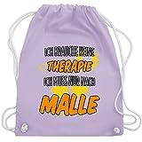 Shirtracer Urlaub - Ich brauche keine Therapie ich muss nur nach Malle - Unisize - Pastell Lila -...