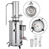 VEVOR Pure Filtro Purificador de Agua 5L por Hora de Lab Destilador Eléctrico Purificador de Agua Destilador Laboratorio DIY Destilador de Ciencia Acero Inoxidable 304 Purificador de Destilación