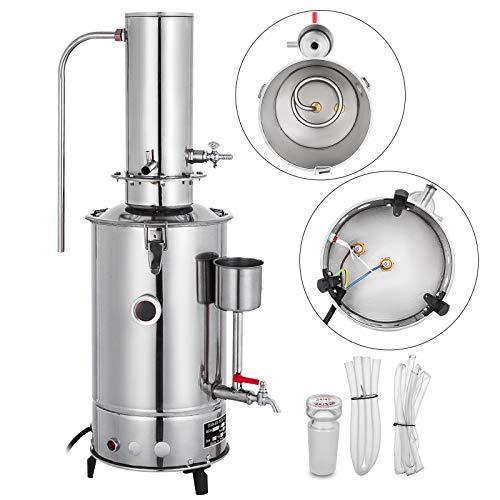 VEVOR Pure Filtro Purificador de Agua 5L por Hora de Lab Destilador Eléctrico Purificador de Agua Destilador Laboratorio DIY Destilador de Ciencia Acero Inoxidable 304 Purificador de Destilaci