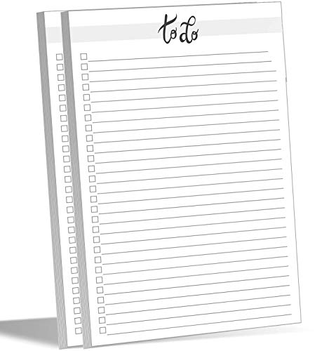 Nuah Prints To Do List Notepad 50 Sheets 5.5 x 8.5 inch, Tear Off Planning Memo Pad, Planner Checklist for Daily Tasks, Meal Planner, Things to Buy and Grocery List, Notes, Recipes (2)