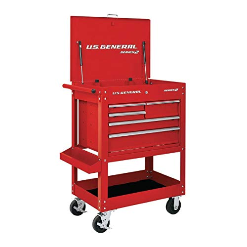30 Inch 5 Drawer 704 Lb. Capacity Glossy Red Tool Cart