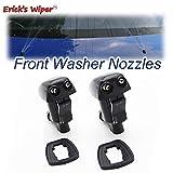 Wiper 2pcs / lot Front Windshield Wiper Washer Jet Boquilla para Toyota Avensis Verso XM20 2001-2009