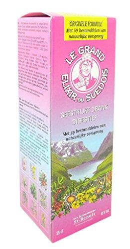 Saint benoit - Elixir du suedois 40° - 350 ml flacon - Véritable élixir du suedois recette originale
