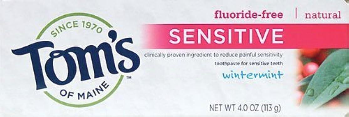 主婦製作指定Tom's of Maine Toothpaste, Sensitive, Wintermint, 4 oz by Tom's of Maine
