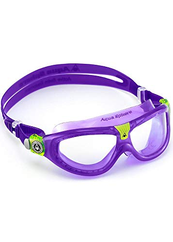 Aqua Sphere Unisex-Youth Seal Kid 2 Schwimmmaske, lila/transparentes Glas, Einheitsgröße
