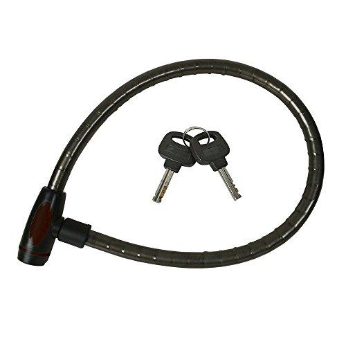 Silverline 442887 - Cable antirrobo con candado para bicicletas (685 mm)