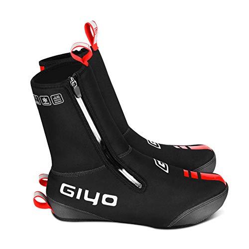 Cubrezapatos de Ciclismo Zapatos de Ciclismo Cubrebotas Impermeables a Prueba de Viento Lana Forrada Zapatos de la Bici Caliente Camino de MTB Cubiertas Invierno de la Bicicleta Protector térmico