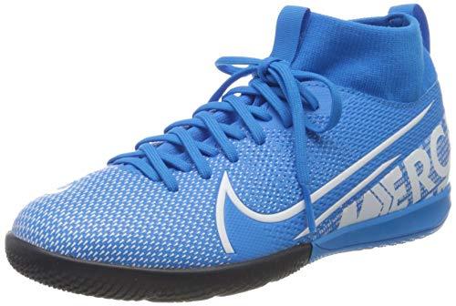 Nike Jr. Mercurial Superfly 7 Academy IC, Botas de fútbol Unisex niño, Multicolor (Blue Hero/White/Obsidian 414), 34 EU