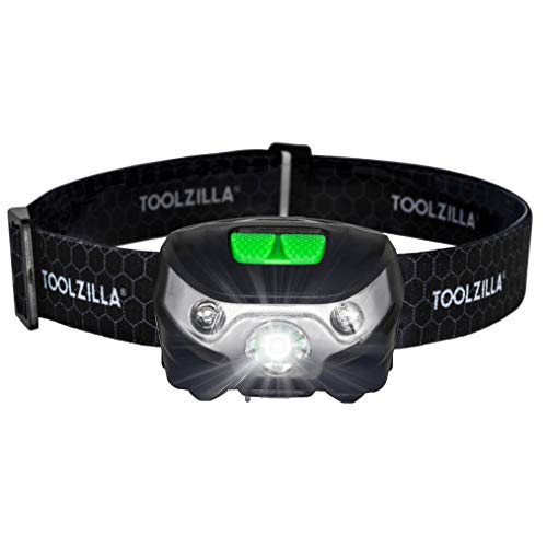 TOOLZILLA® Stirnlampe LED, USB wiederaufladbarer (Kopflampe)