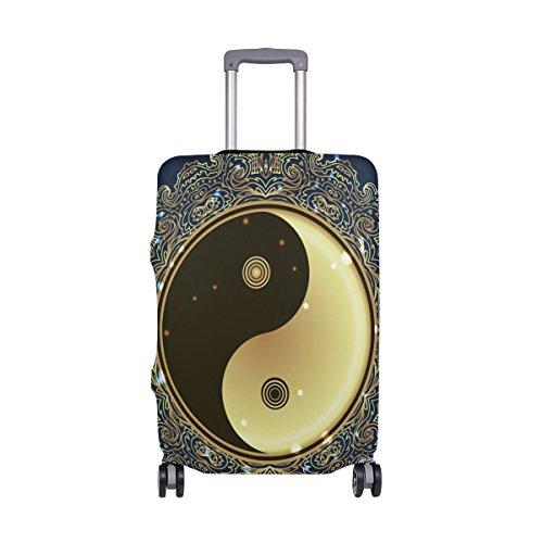 Capa protetora de bagagem com filosofia naturalistas da cultura chinesa para viagem, crianças, homens, mulheres, Multi, Only Luggage Cover Size S