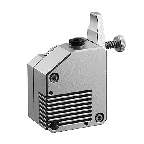 GUOJFEN Accesorios de Impresora 3D Extrusora de actualización Extrusora de Doble accionamiento de Metal 1,75 mm Compatible con Wanhao D9 CR10 Ender3 E10 Negro Plata