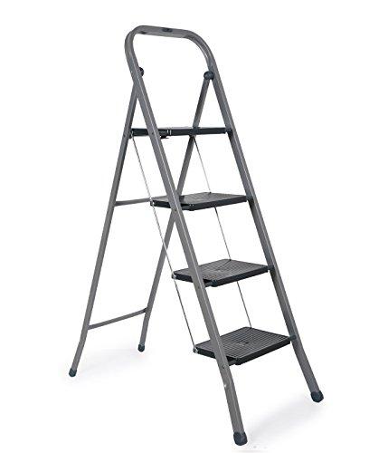 Gimi Tiko 4 Taburete Escalera de Acero Inoxidable, 4 Peldaños