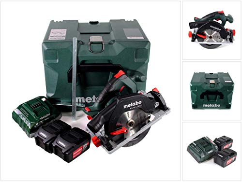 METABO Akku-Handkreissäge KS 18 LTX 57 (601857700); MetaLoc; 18V 2x5.2Ah Li-Ion + ASC 55