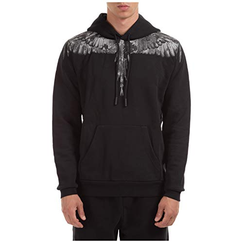 MARCELO BURLON Herren Kapuzenpullover Wings Black/Dark Grey XL
