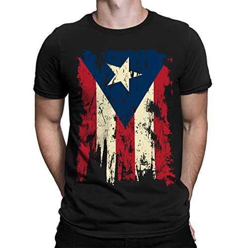 SpiritForged Apparel Vintage Distressed Puerto Rico Mens T-Shirt, Black 2XL