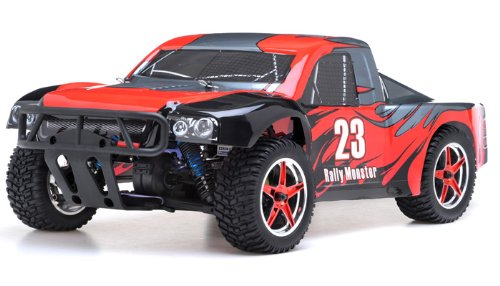 Exceed RC 1/10th 2.4Ghz Brushless Rally Monster Electric RTR Racing Truck (DD Red)