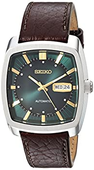 Seiko Men s Recraft Series Automatic Leather Casual Watch  Model  SNKP27