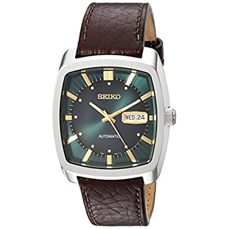 Fashion Shopping Seiko Men's Recraft Series Automatic Leather Casual Watch (Model: SNKP27)