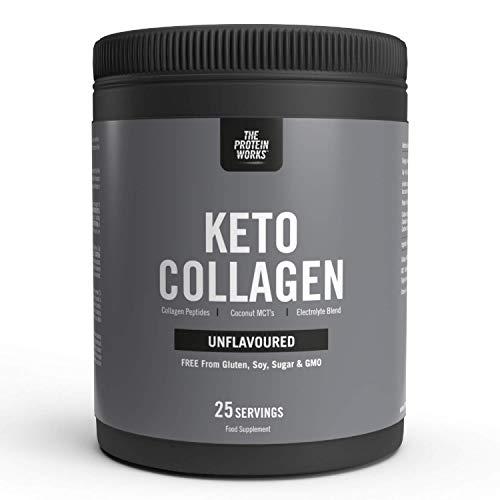 Collagene Keto Proteine In Polvere | Supporta Ossa E Articolazioni Sane | Senza Zucchero | Keto Friendly | Da Fonti Animali Allevate Al Pascolo | THE PROTEIN WORKS | Non Aromatizzato | 325g