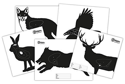 X-Targets Zielscheiben Hunting Package / 5x5 verschieden große Jagd-Zielscheiben/Papier 120g/m²