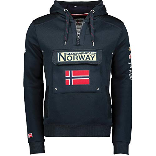 Geographical Norway Gymclass - Sudadera con Capucha para Hombre, Azul Marino, M
