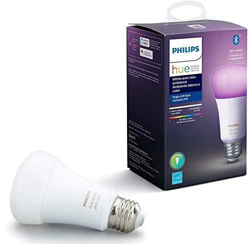 Philips Hue White & Color Ambiance Lâmpada base E27 110V - Iluminação Inteligente Controlada Por Wifi E Bluetooth, Compatível Com Amazon Alexa