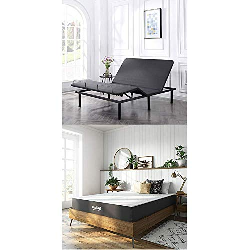 Classic Brands Adjustable Comfort Affordamatic 2.0 Adjustable Bed Base with Cool Gel Ventilated Gel Memory Foam 10-Inch Mattress, Queen