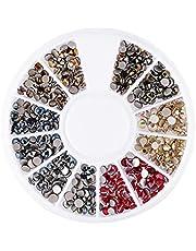 Paznokci Nail Art dzetów jasnego krysztalu zwijajace Charms Flatback szklane Gems Kamienie z Box Nails dekoracji paznokci
