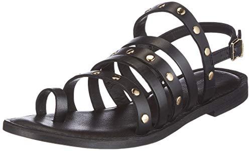 s.Oliver 5-5-28110-26, Sandale Plate Femme, Noir, 38 EU