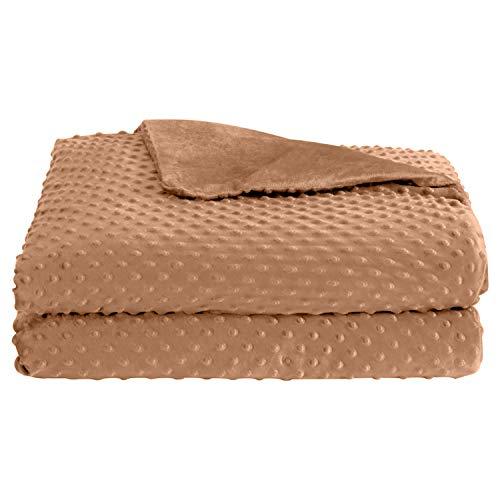 puredown Minky Dot Stoffbezug, abnehmbar und maschinenwaschbar, 152,4 x 203,2 cm, Khaki