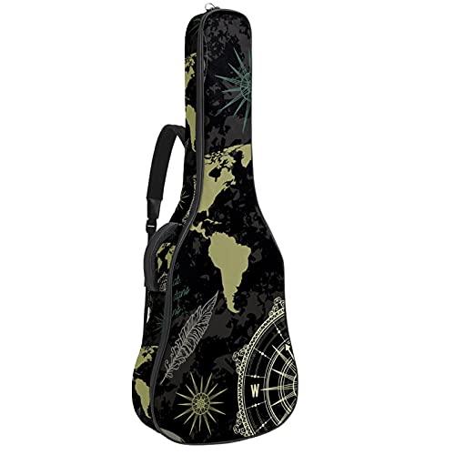 Funda para guitarra de 42 pulgadas, para guitarra eléctrica, bajo acústico, guitarra...