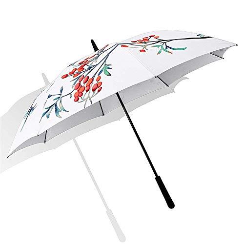 YNHNI Paraguas, Paraguas de Golf, Paraguas de Regalo, Paraguas Casual de Negocios, Paraguas Impreso de Moda, Paraguas, protección Solar de Sol Paraguas,Portátil (Color : A)