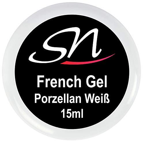 French Gel soft weiss Aufbaugel - UV Gel Porzellan milky white (1 x 15 ml)