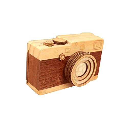 SHYPT Caja de música de Madera, la manivela de Madera Caja Musical Grabado láser Hecha a Mano Los Mejores Regalos de cumpleaños Infantil en el Día de San Valentín Navidad (Size : Small)