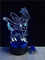 Tatapai 3Dゴーストライトナイトライトゲーム漫画ランプUSBイリュージョンLED照明ギフト溶岩ホームLEDナイトライト子供用