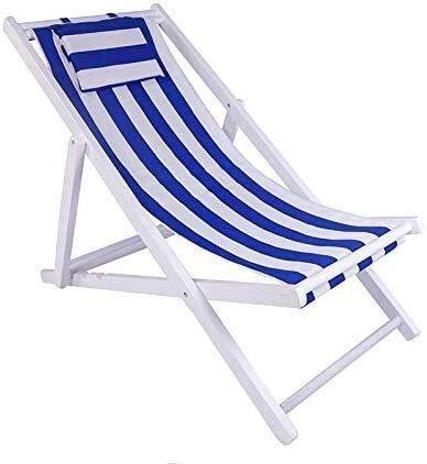 FTFTO Bureau Life Transats Chaise Longue Pliante extérieure en Bois Massif Chaise Longue Balcon extérieur Deux Styles (Couleur: A)