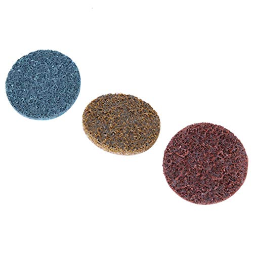 Disco abrasivo, pulido 36 piezas Disco espiral de 3 colores, soldadura resistente al desgaste para pulido de superficies Soldadura de metal con disco abrasivo con varilla de extensión