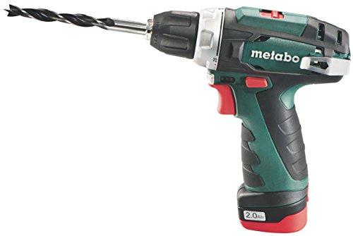 Metabo Akku-Bohrschrauber PowerMaxx BS (600079500) 12V 1x Li-Ion; Ladegerät LC 40; Werkzeugtasche, Art des Akkupacks: Li-Ion , Akkuspannung: 12 V, Akkukapazität: 1 x 2 Ah
