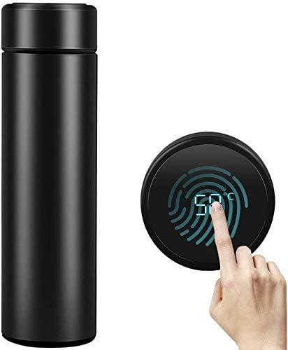 Tazza termica da 500 ml con isolamento sottovuoto in acciaio inossidabile 304, display della temperatura touch screen a led(A03)