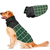 Dog Jacket Winter Coats for Dogs Coat Sweater for Cold Weather Reversible Waterproof Warm Dog Sweaters for Small Medium Large Dogs