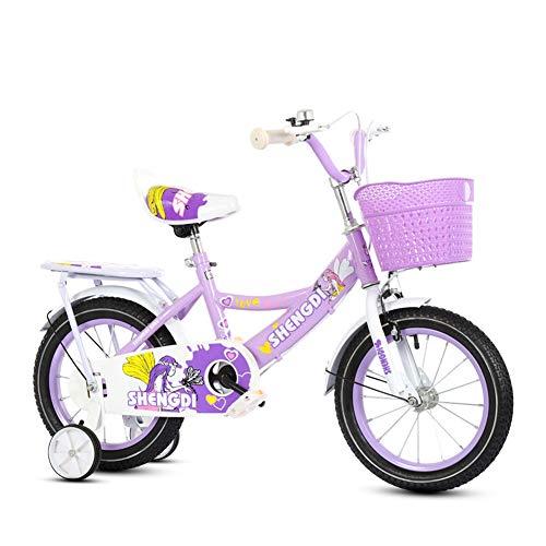 Wisess 2-6-9-13 Anni Bambini Bici, Bambine E Bambini Giocattolo Biciclette Regalo Bicicletta Leggera, Il Miglior Regalo per La Figlia, Viola,16inch