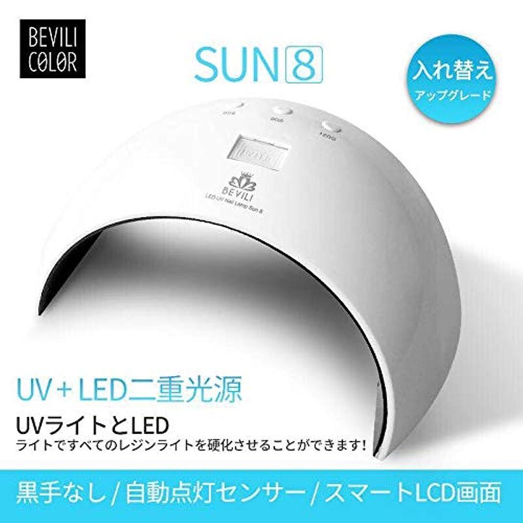 自我エレガントファンシーUV LEDネイルドライヤー 人感センサー UVライト24W 180度照射 Laintran 三つタイマー設定可能 UV と LEDダブルライト ジェルネイル用 ホワイト (24W) (ホワイト)