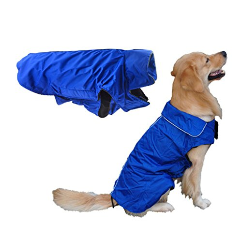 Wasserdicht Hundemantel Große Hunde Wintermantel gefüttert Hundejacke Regenmantel Winter warme Kleidung Hundebekleidung XL XXL XXXL