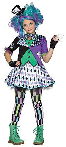 shoperama Mad Hatter Deluxe Kinder-Kostüm Alice im Wunderland Verrückter Hutmacher Mädchen, Kindergröße:158 - 12 bis 14 Jahre