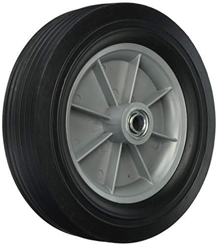 Berger matériel 9653 30,5 cm manutention de remplacement de roue, solide en caoutchouc, 2–5/20,3 cm rainure Roulement, 3/10,2 cm Alésage centré essieu