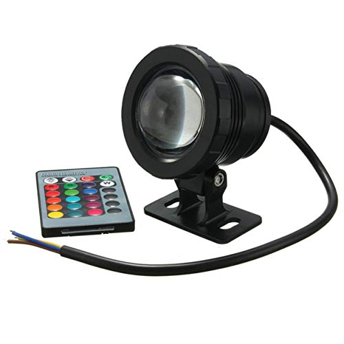 Tree-on-Life Waterproof 10W RGB LED Light Garden Fountain Pool Pond Spotlight Super Bright Underwater Light Lamp With Remote Control