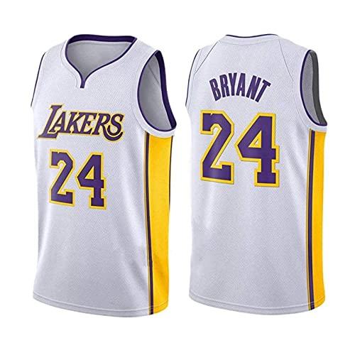 AKEFG Lakers # 24 Kobe Bryant's New Jersey Bordado, Camiseta de Baloncesto para Hombre, Chaleco Deportivo Espacioso y cómodo