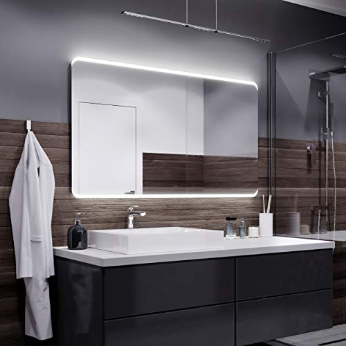 Hangende spiegel met LED - Warme LED-kleur - Badkamerspiegel