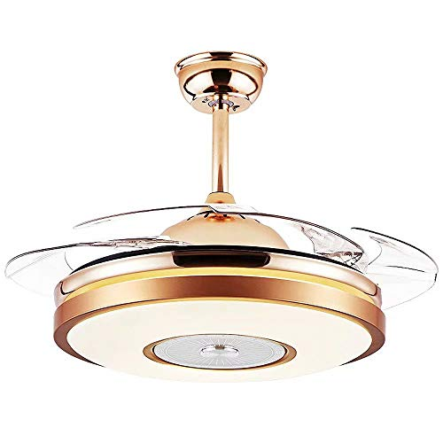 Ventilador de techo con luz regulable,lámpara LED integrada de 72W,ventilador de araña, ventilador de techo invisible,luz de 42 pulgadas,control dual,3 velocidades,4 aspas de ventilador